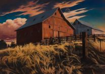 Two Barns (2017) by Daniel Robinson