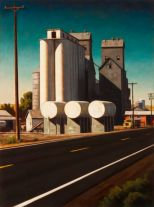 Elevators and tanks (2015) by Daniel Robinson