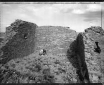 Searching for artifacts, unexcavated ruins, Chaco Canyon, New Mexico,  9/6/82 (1982) by Mark Klett