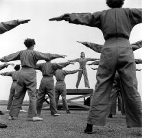 Untitled (women doing exercises) (1942-45) by Wayne Miller