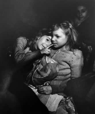Untitled (children at circus) (1940s) by (Arthur Fellig) Weegee