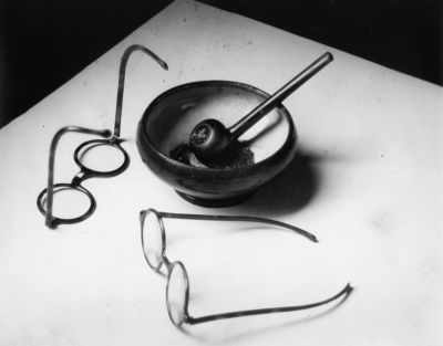 Mondrian's Glasses and Pipe, Paris (1926) by André Kertész