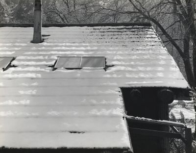 Snow on Roof, Yosemite Valley, Yosemite National Park (ca. 1936) by Ansel Adams