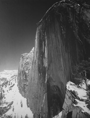 Monolith, the Face of Half Dome (1927) by Ansel Adams