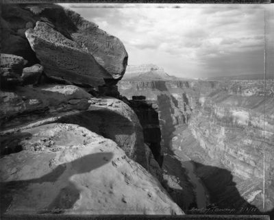 View of Grand Canyon in homage to William Bell, east of Toroweap 7/3/88 (1988) by Mark Klett