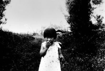 "Girl in Ishikari-cho from ""Searching Journeys 9"" (1971) by Daido Moriyama"
