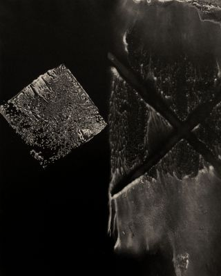 Untitled (x and block form) (1979) by Gyorgy Kepes