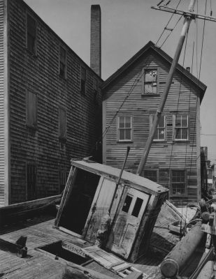 Untitled (houseboat) (1944) by Aaron Siskind