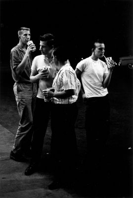 From The Age of Adolescence (four teen boys with sodas) (1959-64) by Joseph Sterling