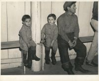 Fur trapper and his children (1941) by Marion Post Wolcott