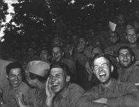 Pacific Theater, WWII (audience of soldiers) (1942-45) by Wayne Miller