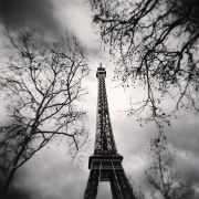 Eiffel Tower, Study 10, Paris (2013) by Michael Kenna