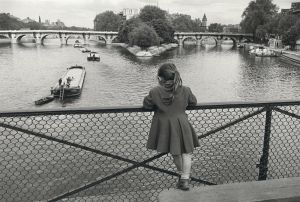 Les Pont des Arts, Paris (1956) by Edouard Boubat