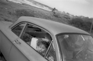 From Angel City West (car leaving beach) (1983) by Mark Steinmetz