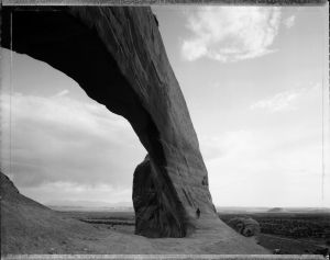 Beneath the Great Arch, near Monticello, Utah 6/21/82 (1982) by Mark Klett