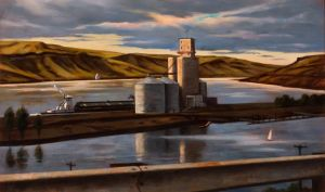 Barge and marina (2015) by Daniel Robinson