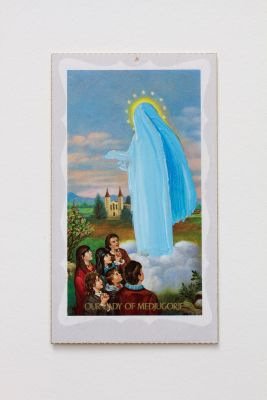 In which the most vivid shades were blues (Our Lady of Medjugorje) (2014) by Hayley Barker