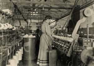 Cotton Mill, Spooling (c. 1909) by Lewis Hine