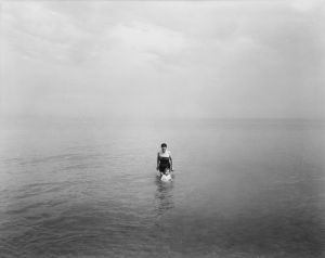 Eleanor and Barbara, Lake Michigan (1953) by Harry Callahan