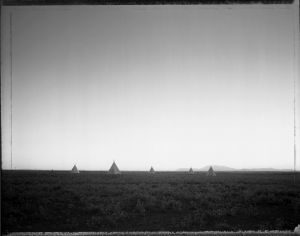 Plywood Tee-Pees, Meteor Crater, AZ 5/30/82 (1982) by Mark Klett