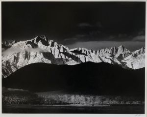 Winter Sunrise, Sierra Nevada from Lone Pine, California (1944) by Ansel Adams