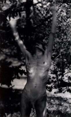 Untitled self-portrait [nude standing] (1959) by Walter Chappell