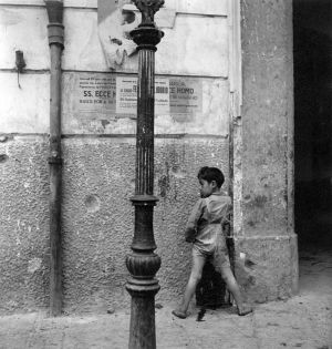 Naples (boy smoking) (1944) by Wayne Miller