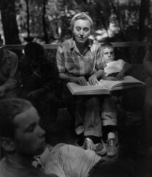 Rose Resnick, Enchanted Hills Camp for the Blind (1950) by Wayne Miller