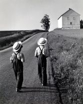 Two Amish Boys, Lancaster, PA (1962) by George Tice