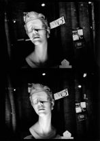 New York (sleep masks) (1972) by Daido Moriyama