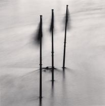 Three Flags in Flood, Paris (1991) by Michael Kenna