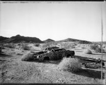 Ventilated sedan, east of Parker, Arizona 1/5/86   (1986) by Mark Klett