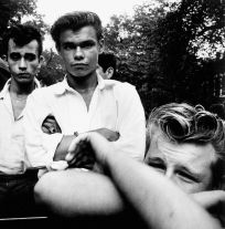 From The Age of Adolescence (boys with arms crossed) (1959) by Joseph Sterling