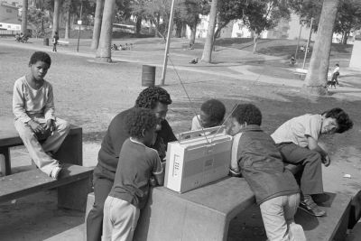 From Angel City West (MacArthur Park boombox) (1984) by Mark Steinmetz