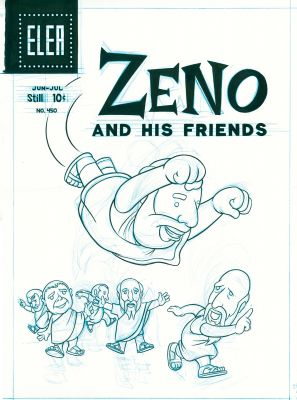 from The Three Paradoxes, page 56 (Zeno and His Friends) (2007) by Paul Hornschemeier