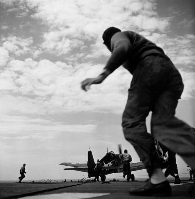 Pacific Theater, WWII (plane taking off) (1942-45) by Wayne Miller
