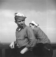 Pacific Theater, WWII (two sailors) (1942-45) by Wayne Miller