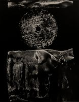 Untitled (circle with hole in center) (1977) by Gyorgy Kepes