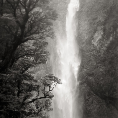 Waterfall, Southern Alps, NZ (2011) by Jeffrey Conley