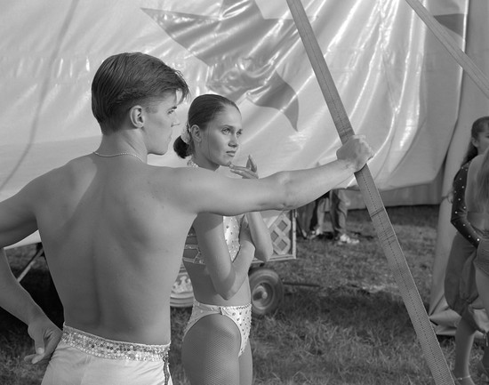 Untitled (acrobats), from Carnival (1998) by Mark Steinmetz