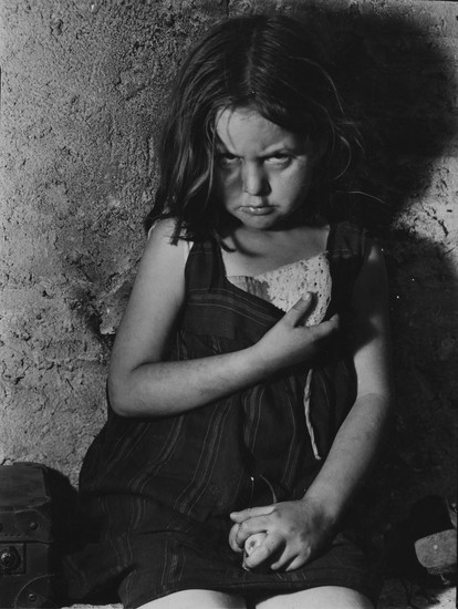 Angeles Gonzalez, Seven years old refugee from Madrid, Spain (1938) by Margaret Bourke-White