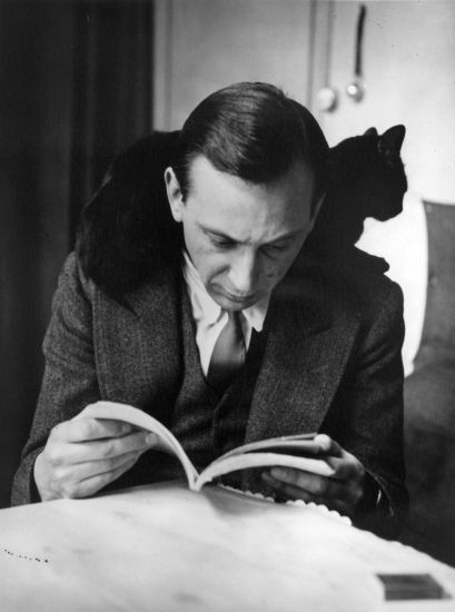 Self-portrait with chat noir, Paris (c. 1925) by André Kertész