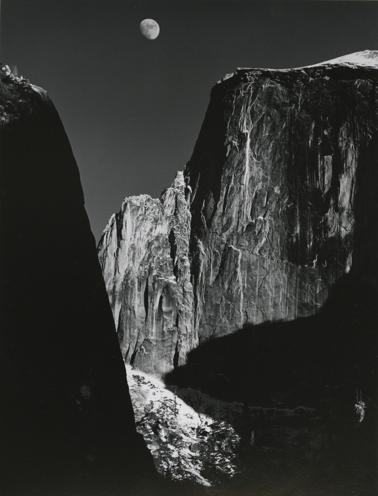 Moon and Half Dome (from Yosemite Special Edition Series) (1960) by Ansel Adams