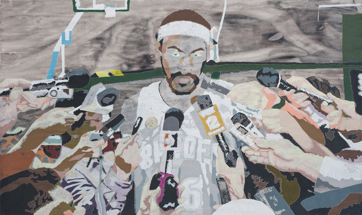 Rasheed with Mics (2009) by Anna  Fidler