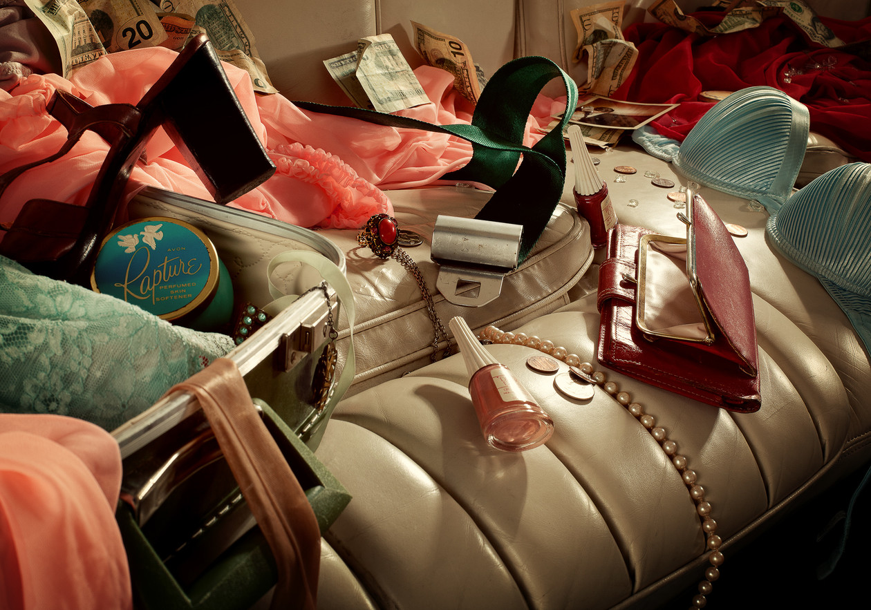 Backseat Vanitas (Suitcase) (2012) by Holly Andres