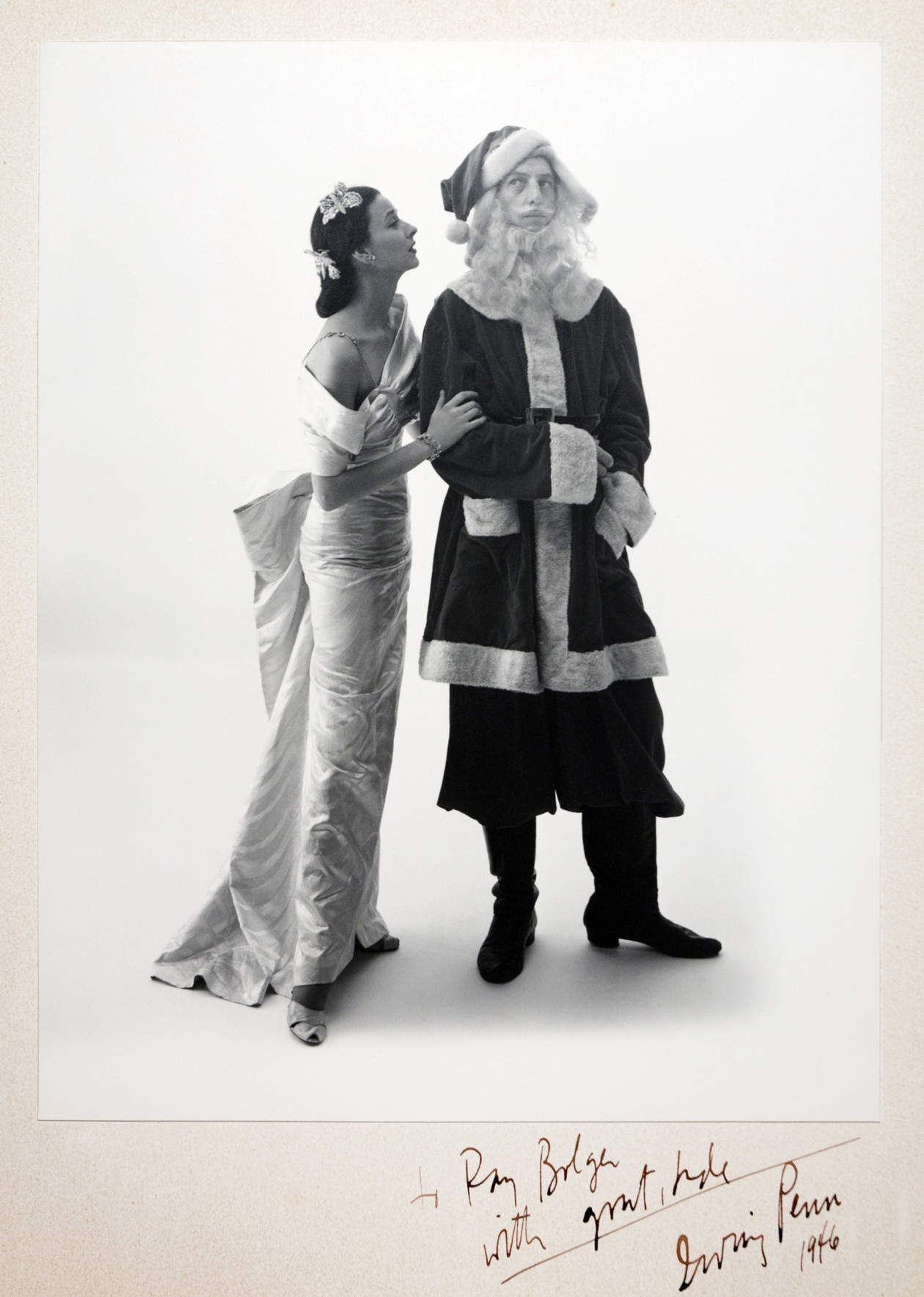 Ray Bolger with Dorian Leigh, Vogue Cover (1946) by Irving Penn