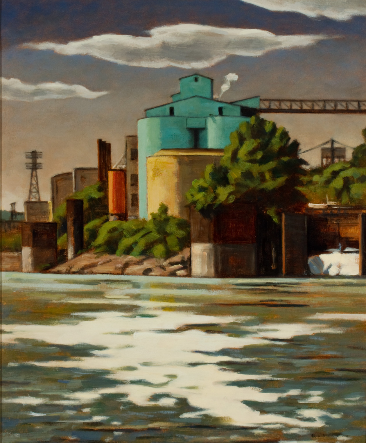 Water and Cylinders (2013) by Daniel Robinson