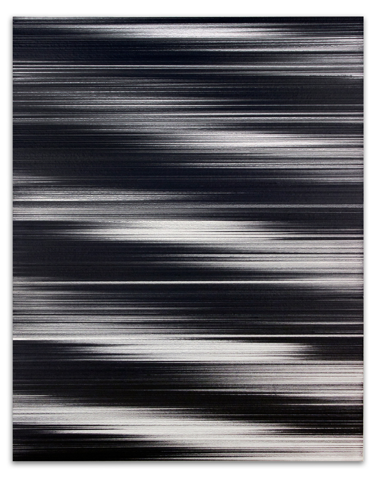 Waves in black & white No. 1 (2017) by John Whitten