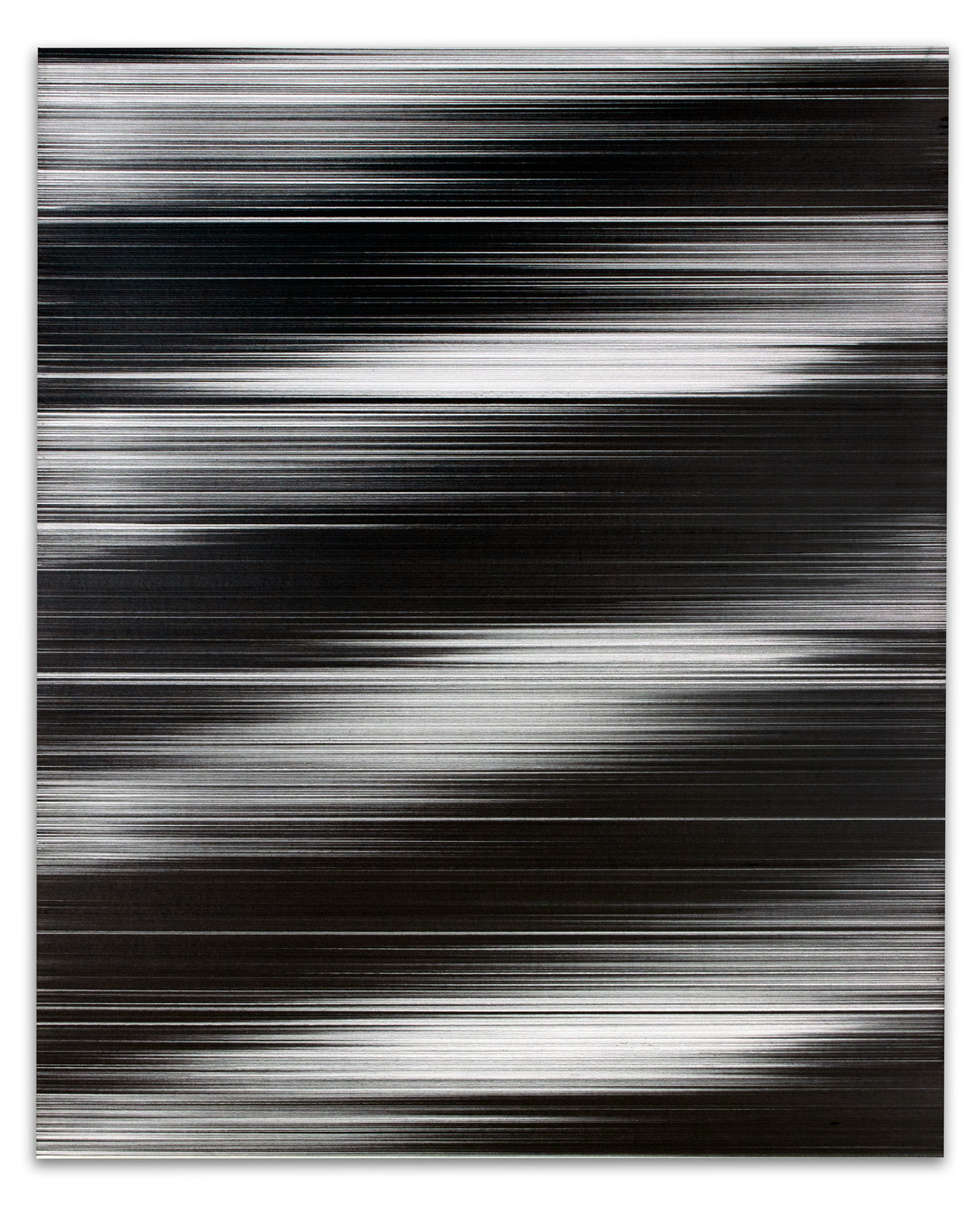 Waves in black & white No. 2 (2017) by John Whitten
