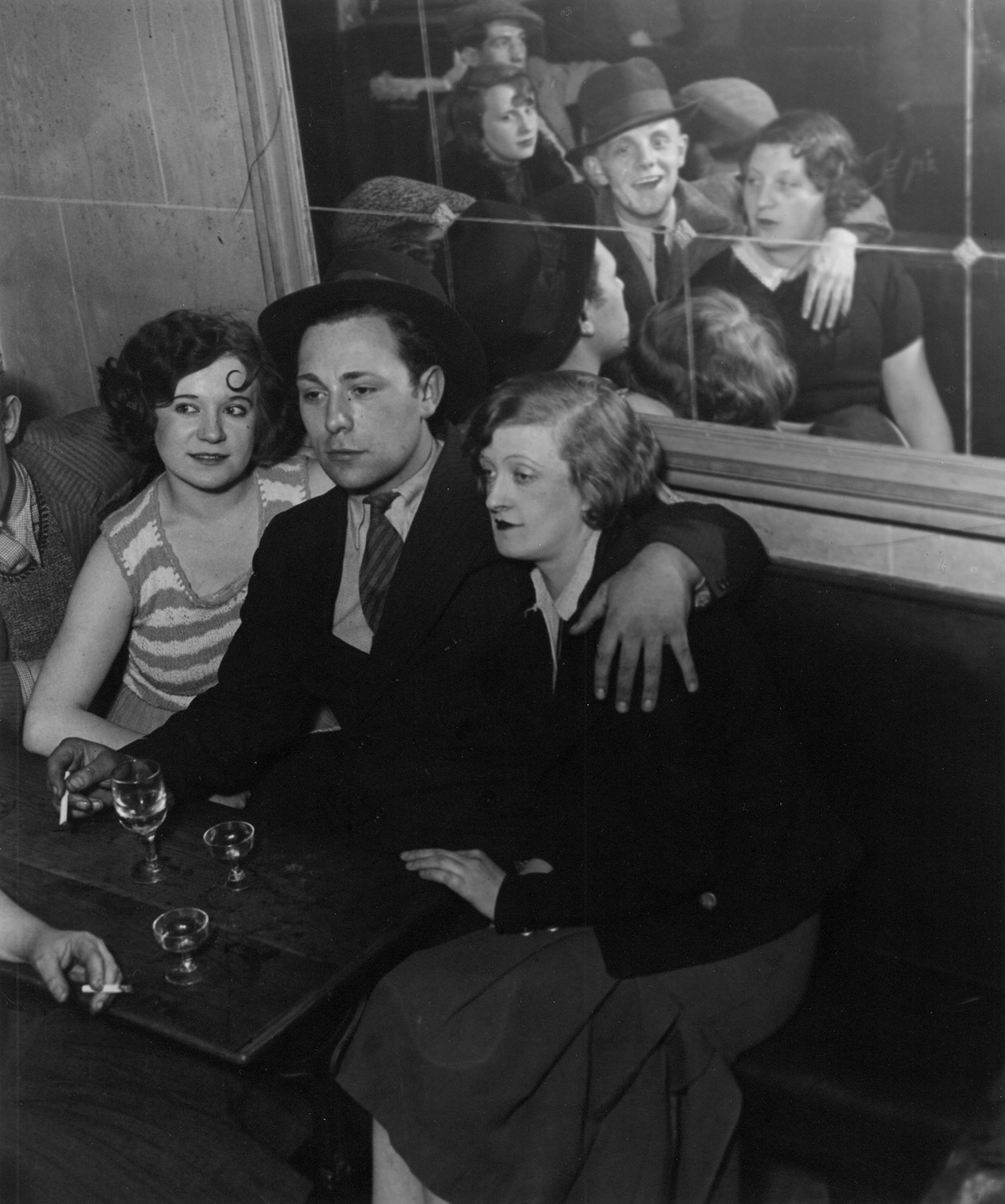 A Happy Group at the Quatre Saisons (at Bal Musette) (1932) by (Gyula Halász) Brassaï